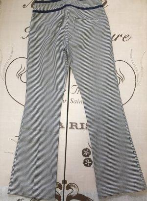 Pantalón anchos blanco-azul oscuro