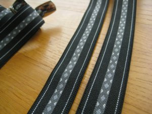Suspenders black-grey
