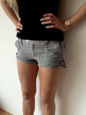 Gestreifte Hotpants Kurze Hose 36 S