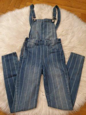 Gestreifte Jeans Latzhose