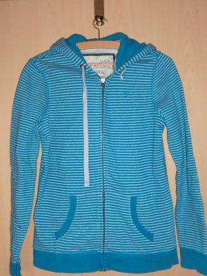Esprit Veste chemise turquoise-blanc coton