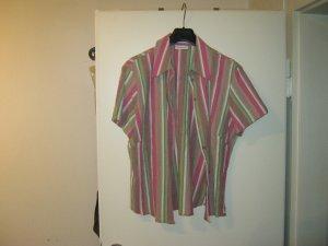 gestreifte Kurzarm-Bluse
