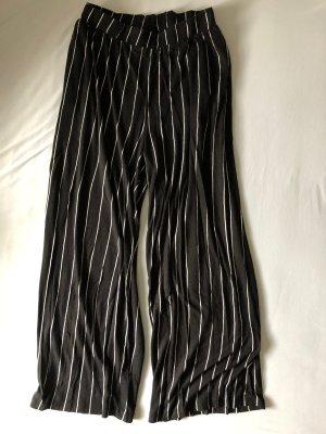H&M High Waist Trousers black-white