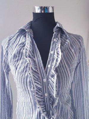 Gestreifte Long-Bluse mit Rüschen von Please
