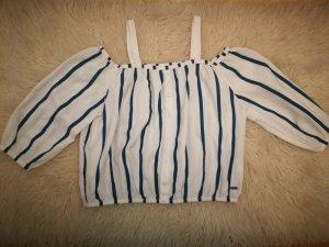 Gestreifte Off-Shoulder Bluse