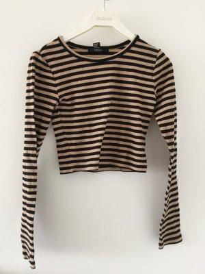 Gestreifte Pullover für High Waist Hosen Gr. XS