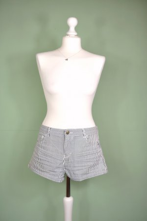 Gestreifte Shorts / Jeansshorts / Hot Pants Regular Waist