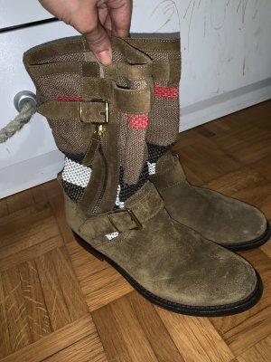 Gestreifte Stiefel aus veloursleder mit riemen standar ((Urlaub von 27/7 bis 8/9))
