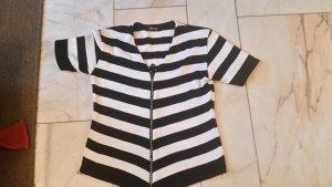 Futura Moda Veste sweat blanc-noir