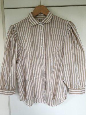 Gestreifte Vintage-Bluse