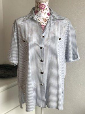Gestreifte Vintage Kurzarm Bluse