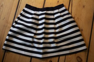 H&M Balloon Skirt black-cream mixture fibre