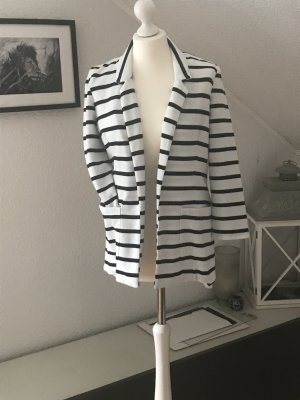 Reserved Blazer de tela de sudadera blanco-azul oscuro