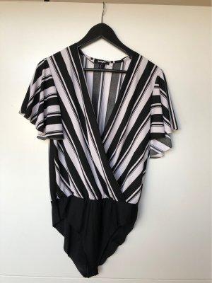 Jennyfer Bodysuit Blouse black-white