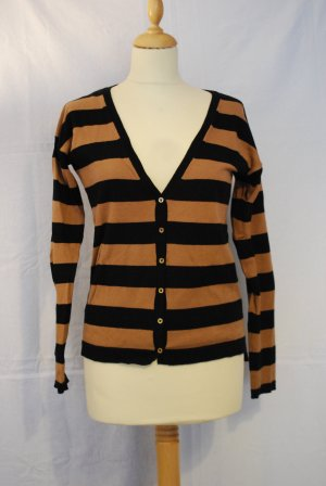 Mango Knitted Cardigan black-light brown