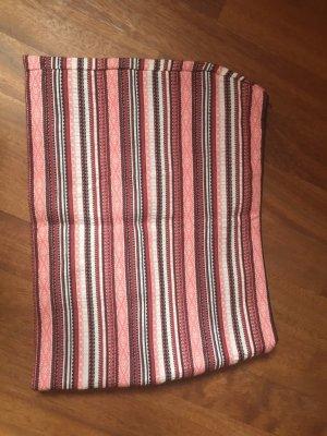 gestreifter enger Minirock rosa rot schwarz weiß Zara XS