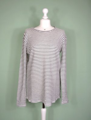 H&M Long Sweater black-white