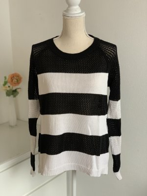 Ann Christine Coarse Knitted Sweater black-white