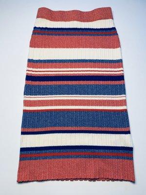 H&M Gonna lavorata a maglia multicolore Lana