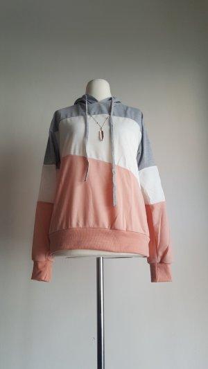 Maglione con cappuccio multicolore Tessuto misto