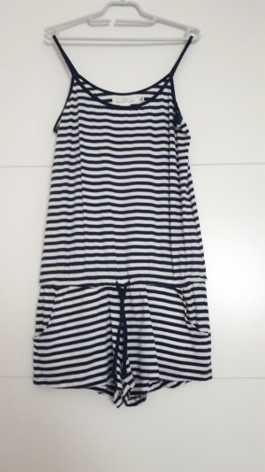 H&M Tuta bianco-blu scuro