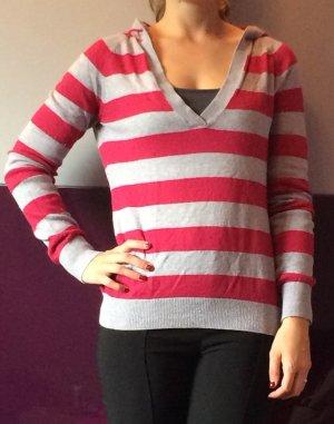 Gestreifter Kapuzensweater