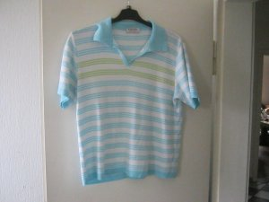 Short Sleeve Sweater light blue-white