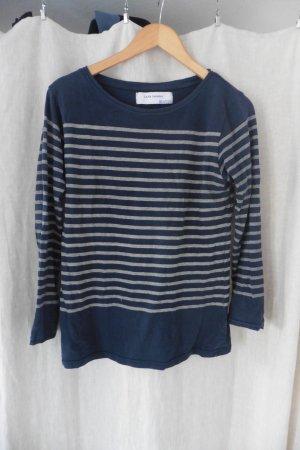 gestreifter maritimer leichter Baumwoll Pullover