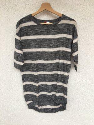 gestreifter oversize pullover von h&m