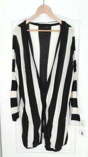 Gestreifter Oversized Cardigan von H&M 38 S M L Blogger Hipster Oversize XXL