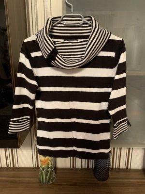Maglione a maniche corte bianco-nero