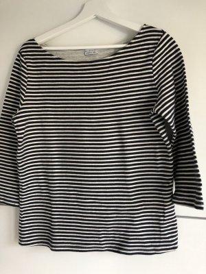 Short Sleeve Sweater white-dark blue