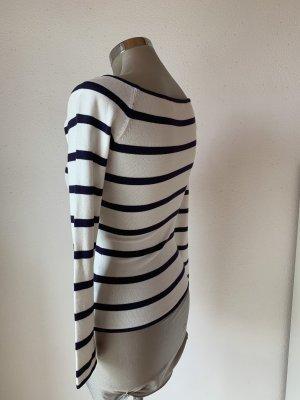 H&M Sweater met korte mouwen wit-donkerblauw