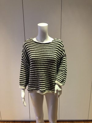 American Vintage Coarse Knitted Sweater anthracite-natural white