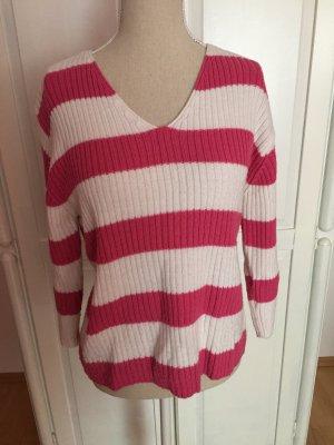 gestreifter Pullover in weiß rosa