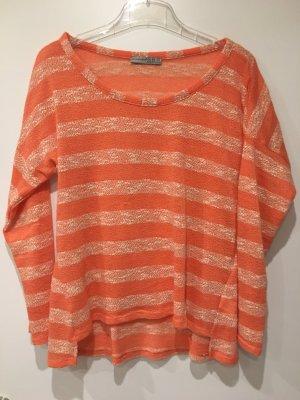Gestreifter Pullover orange