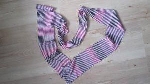gestreifter Schal in pink, lila, grau, beige