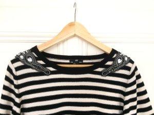 H&M Jersey de punto negro-blanco
