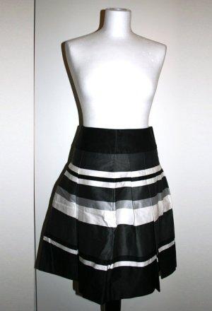 H&M Gonna a pieghe nero-grigio