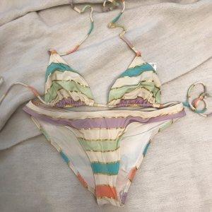 Gestreifter Triangel Bikini