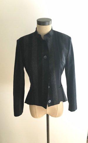 denim deluxe Tailcoat dark blue-cognac-coloured