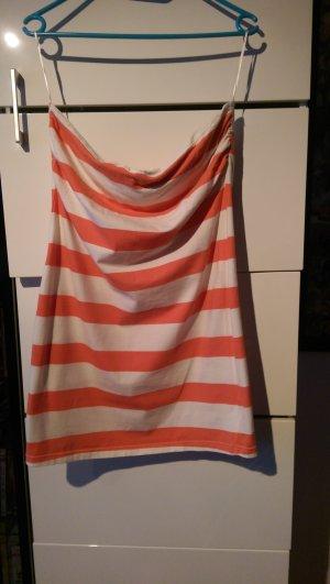 Gestreiftes Bandeau-Longshirt