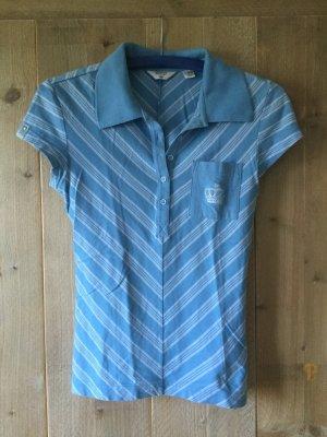 gestreiftes blaues T-Shirt von Adidas
