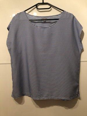 Aerie Short Sleeved Blouse white-blue