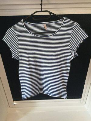 Gestreiftes cropped Tshirt