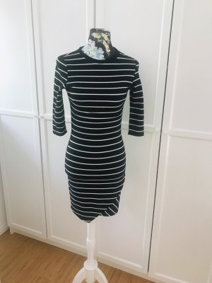 Mango Midi Dress black-white