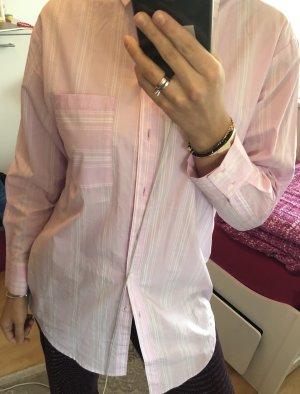 Monki Camicia a maniche lunghe bianco-rosa chiaro