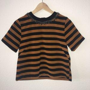 H&M Camicia a maniche corte ruggine-nero