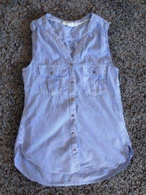 Gestreiftes Hemd ohne Ärmel Gr.36