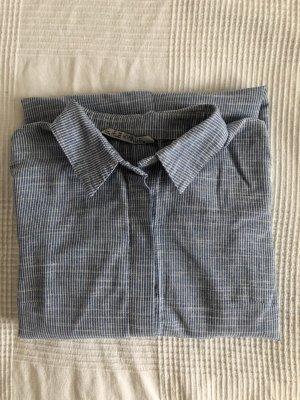 Abito blusa camicia bianco-blu